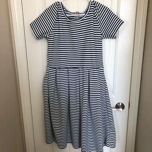 LulaRoe Striped Amelia Dress (size 2XL)